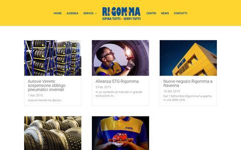 Screenshot of Press Page rigomma.it - News - Rigomma - captured June 16, 2017