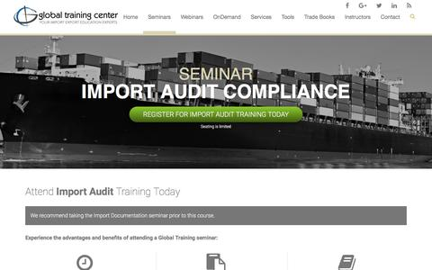 Global Training Center - Prepare for Import Customs Audit Training