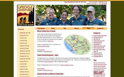 Screenshot of Blog lifecycleadventures.com - LifeCycle Adventures Blog - captured Oct. 2, 2014