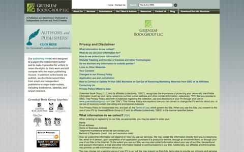 Screenshot of Privacy Page greenleafbookgroup.com - Privacy Policy | Greenleaf Book Group LLC - captured Sept. 16, 2014