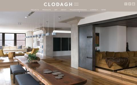 Screenshot of Home Page clodagh.com - Home - Clodagh Design - captured Feb. 18, 2018