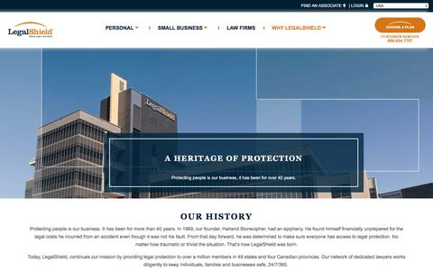 Screenshot of About Page legalshield.com - Why LegalShield   LegalShield - captured July 11, 2016