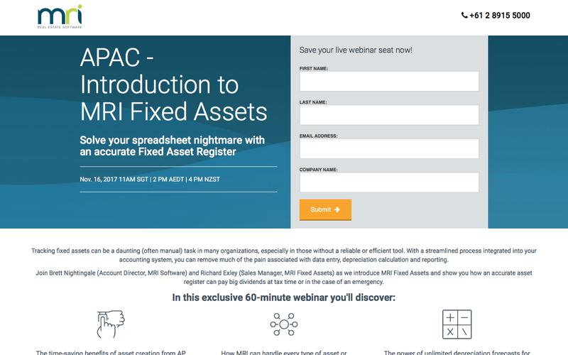 APAC - Introduction to MRI Fixed Assets