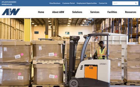 Screenshot of Services Page atlantabonded.com - Services | Atlanta Bonded Warehouse | Third-Party Logistics (3PL) Provider - captured Oct. 4, 2018