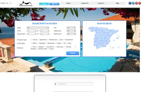 Screenshot of Signup Page foreclosure-spain.com - Foreclosure Spain - captured Aug. 4, 2016