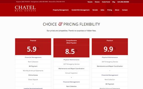 Screenshot of Pricing Page chatelrealestate.com - Pricing - Chatel Real Estate - captured Sept. 29, 2014