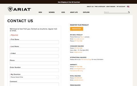 Sites-Ariat-Site