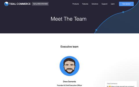 Screenshot of Team Page tidalcommerce.com - Tidal Commerce says… - captured Nov. 23, 2018