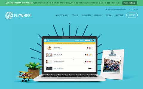 Flywheel |   Managed WordPress hosting built for designers and agencies