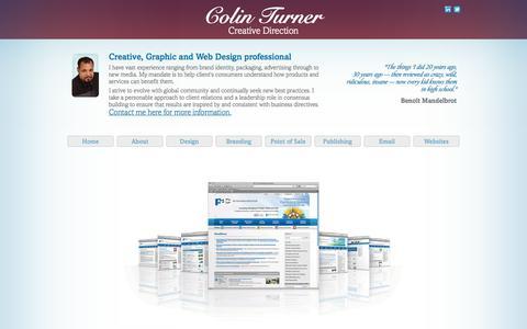 Screenshot of About Page transmitcreative.com - About | Creative Portfolio | Colin Turner - captured Oct. 7, 2014
