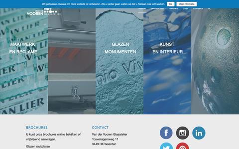 Screenshot of Home Page vandervooren.nl - Van der Vooren Glasatelier - Van der Vooren Glasatelier - captured Oct. 18, 2018