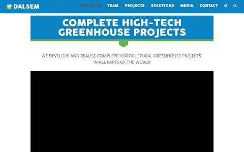 Screenshot of About Page dalsem.com - Complete high-tech greenhouse projects - Dalsem - captured Nov. 23, 2016