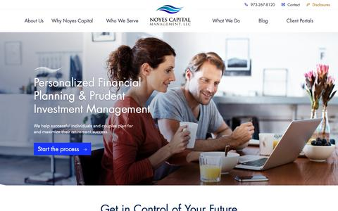 Screenshot of Home Page noyescapital.com - Home - Noyes Capital Management Capital Management, LLC - captured Oct. 18, 2018