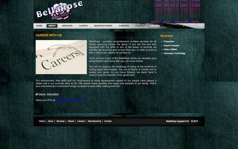 Screenshot of Jobs Page bellaroseapparel.in - BellaRose Apparel Int'l. - captured Oct. 5, 2014