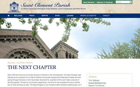 Screenshot of clement.org - The Next Chapter | Saint Clement Parish - captured March 20, 2016