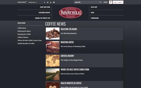 Screenshot of Press Page papanicholas.com - A Guide to Coffee | PapaNicholas Coffee - captured Sept. 26, 2018