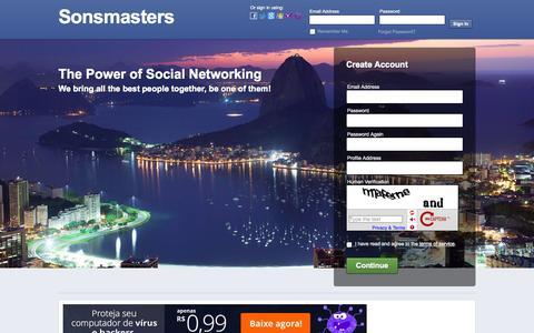 Screenshot of Home Page sonsmasters.com.br - Sonsmasters - Landing Page - captured Sept. 23, 2014