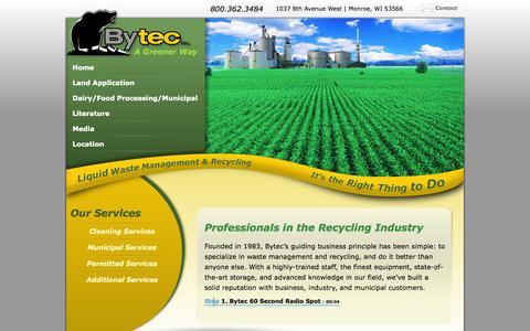 Screenshot of Home Page bytecresourcemanagement.com - Bytec Resource Management, Inc. - captured Oct. 5, 2014