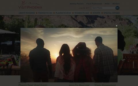 Screenshot of Home Page visitphoenix.com - Phoenix Arizona | Phoenix Attractions and Events : VisitPhoenix.com - captured Jan. 26, 2015