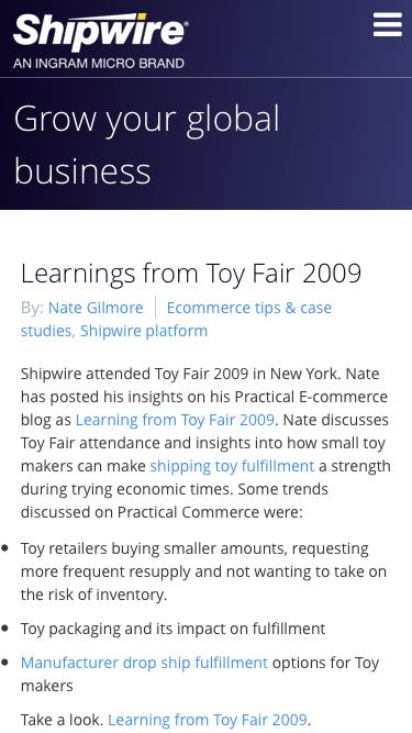 Learning from Toy Fair 2009: Toy Fulfillment & Wholesale Drop Ship Fulfillment