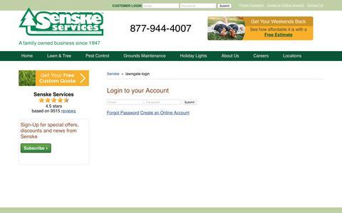 Screenshot of Login Page senske.com - lawngate-login - captured Sept. 30, 2017