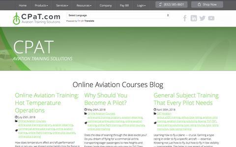 Screenshot of Blog cpat.com - Online Aviation Courses Blog | CPaT Global - captured Sept. 25, 2018