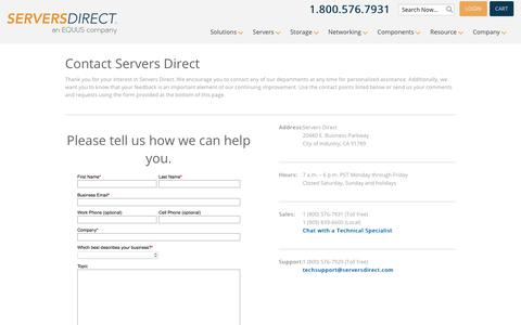 Contact Us - Servers Direct