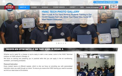 Screenshot of About Page hvac-tech.com - About Us - captured May 1, 2018