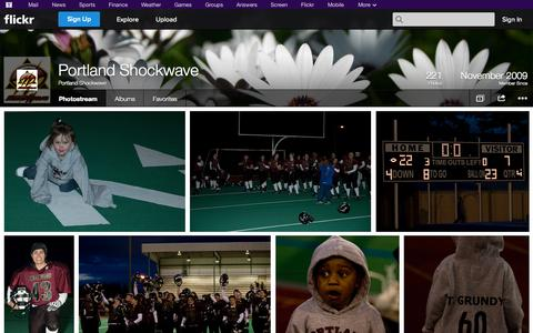 Screenshot of Flickr Page flickr.com - Flickr: Portland Shockwave's Photostream - captured Oct. 22, 2014