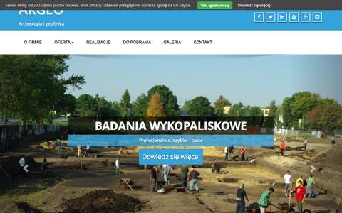 Screenshot of Home Page argeo.biz - ARGEO   Archeologia i geofizyka - captured Dec. 23, 2015