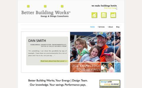 Screenshot of Home Page betterbuildingworks.com - Better Building Works - captured Oct. 5, 2014