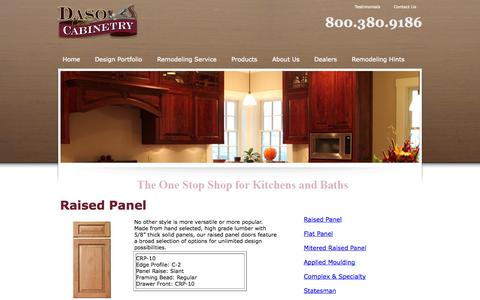 Screenshot of Products Page dasocustomcabinetry.com - Daso Custom Cabinetry Specialty Products - captured Sept. 30, 2014