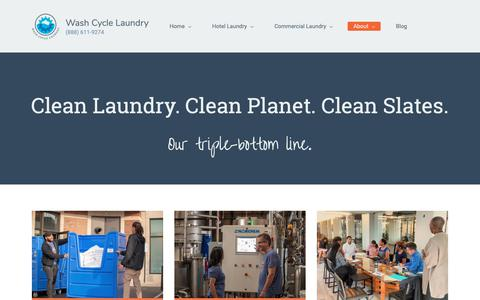 Screenshot of About Page washcyclelaundry.com - Mission and Impact | About Wash Cycle - captured Nov. 16, 2018