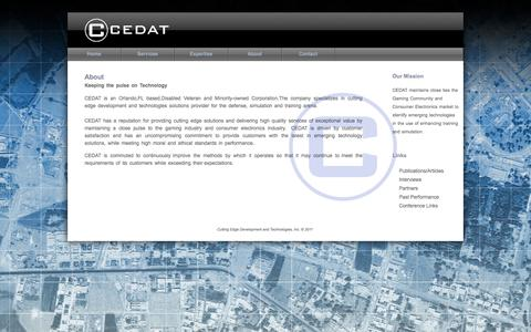 Screenshot of About Page ce-dat.com - CEDAT - captured Sept. 26, 2014