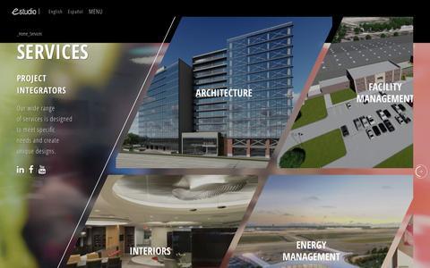 Screenshot of Services Page estudioarchitecture.com - Services   EStudio - captured Nov. 12, 2016