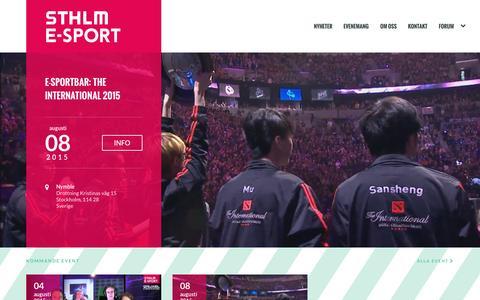 Screenshot of Home Page sthlmesport.se - STHLM e-sport   E-sportevent i Stockholm - captured Aug. 2, 2015
