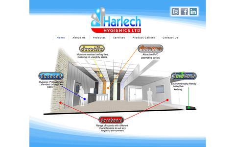 Screenshot of Home Page harlech.org.uk - Home - captured July 16, 2017