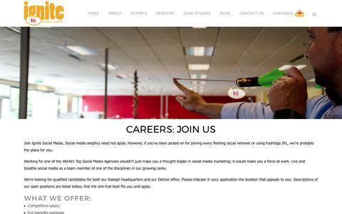 Ignite Social Media – The original social media agency | Careers