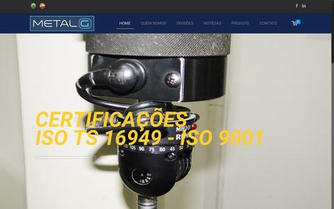 Screenshot of Home Page metalg.com.br - Baldes Plasticos   Metal G do Brasil - captured Nov. 9, 2018