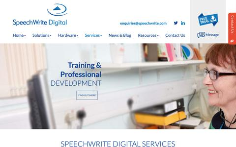 Screenshot of Services Page speechwrite.com - We provide a full range of transcription and dictation services - SpeechWrite - captured Oct. 19, 2018