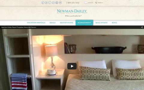 Screenshot of Team Page destinvacation.com - Destin Rental Management from Newman-Dailey - captured Jan. 20, 2016