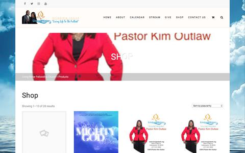 Screenshot of Products Page livingwaterfc.org - Products – Living Water Fellowship Church - captured Sept. 25, 2018