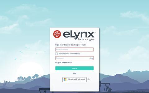 Screenshot of Login Page elynxtech.com - eLynx - captured Dec. 24, 2019