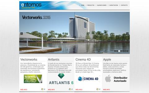 Screenshot of Home Page entornos.cl - Entornos soluciones Cad - captured Sept. 19, 2015