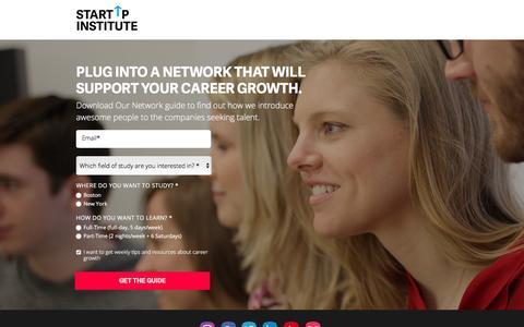 Screenshot of Landing Page startupinstitute.com - Network Guide - captured Nov. 15, 2016