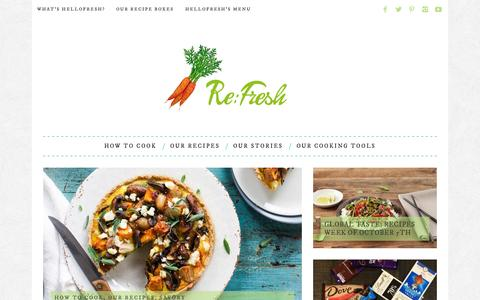 Screenshot of Blog hellofresh.com - Re:Fresh: HelloFresh's food blog - captured Oct. 1, 2015