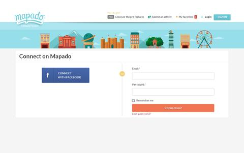 Screenshot of Login Page mapado.com - Mapado - captured July 20, 2014