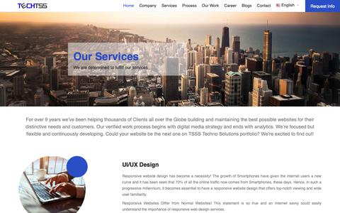 Screenshot of Services Page techtss.com - Web and Mobile Application Services - TechTSS - captured Oct. 18, 2018