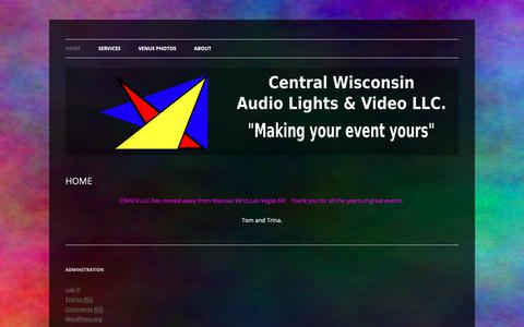 Screenshot of Home Page cwalv.com - CENTRAL WISCONSIN AUDIO, LIGHTS, & VIDEO LLC - captured Sept. 27, 2018
