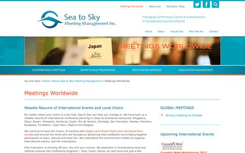Screenshot of Locations Page seatoskymeetings.com - Meetings Events Worldwide   Vancouver   BC   Canada   International – Sea to Sky Meeting Management Inc. - captured Oct. 6, 2017
